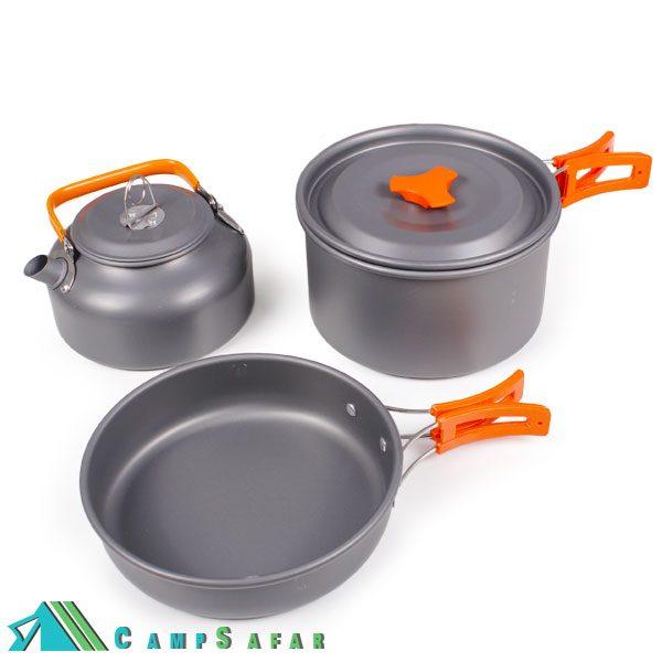 ست غذاخوری کوهنوردی Cooking Set DS308 کمپینگ