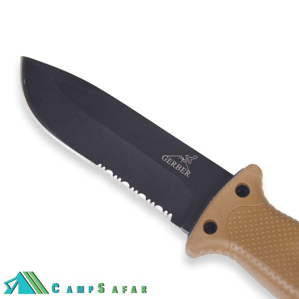 چاقو کمپینگ گربر مدل LMF تاکتیکال غلاف دار