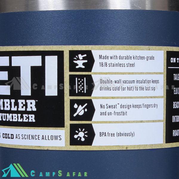 ماگ کوهنوردی YETI یتی مدل TUMBLER 850ML