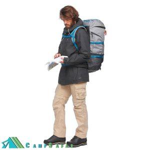 کاپشن کوهنوردی فورکلاز Forclaz مدل Travel 100 دوپوش مشکی
